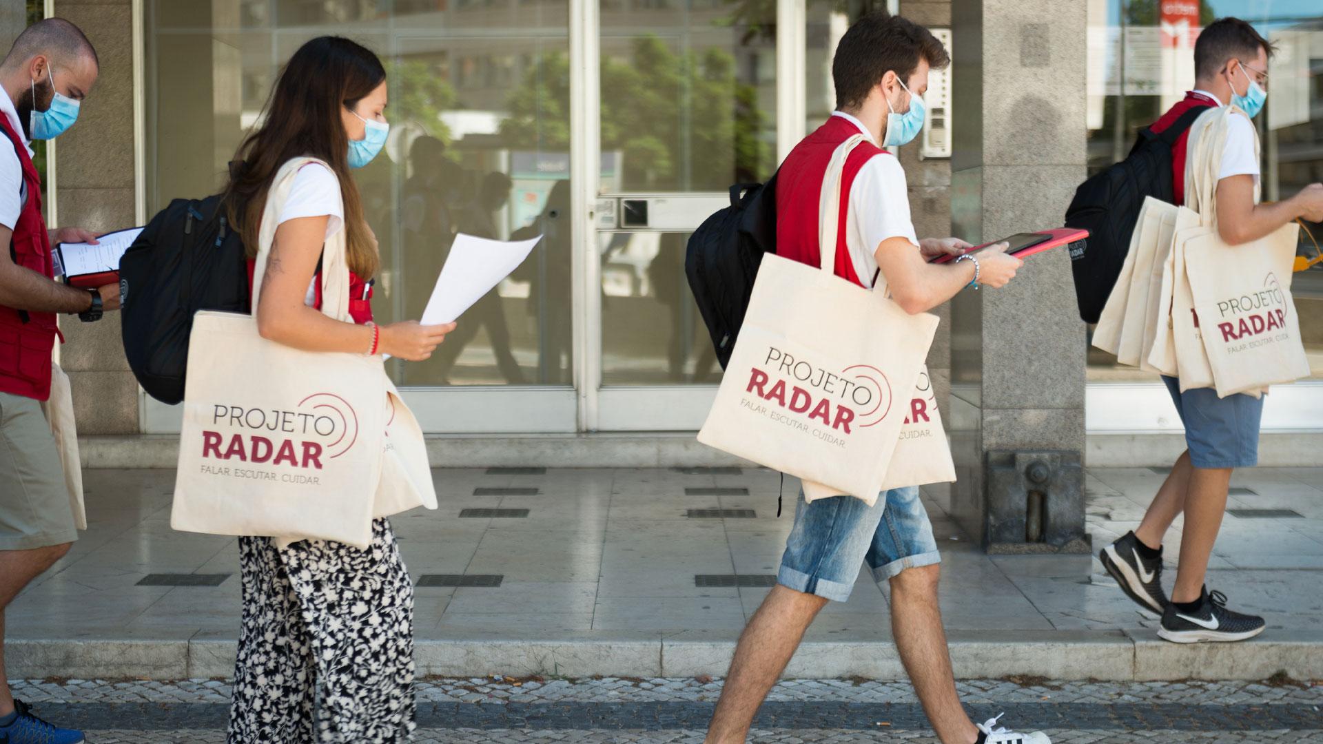 Voluntários do Radar percorrem ruas de lisboa