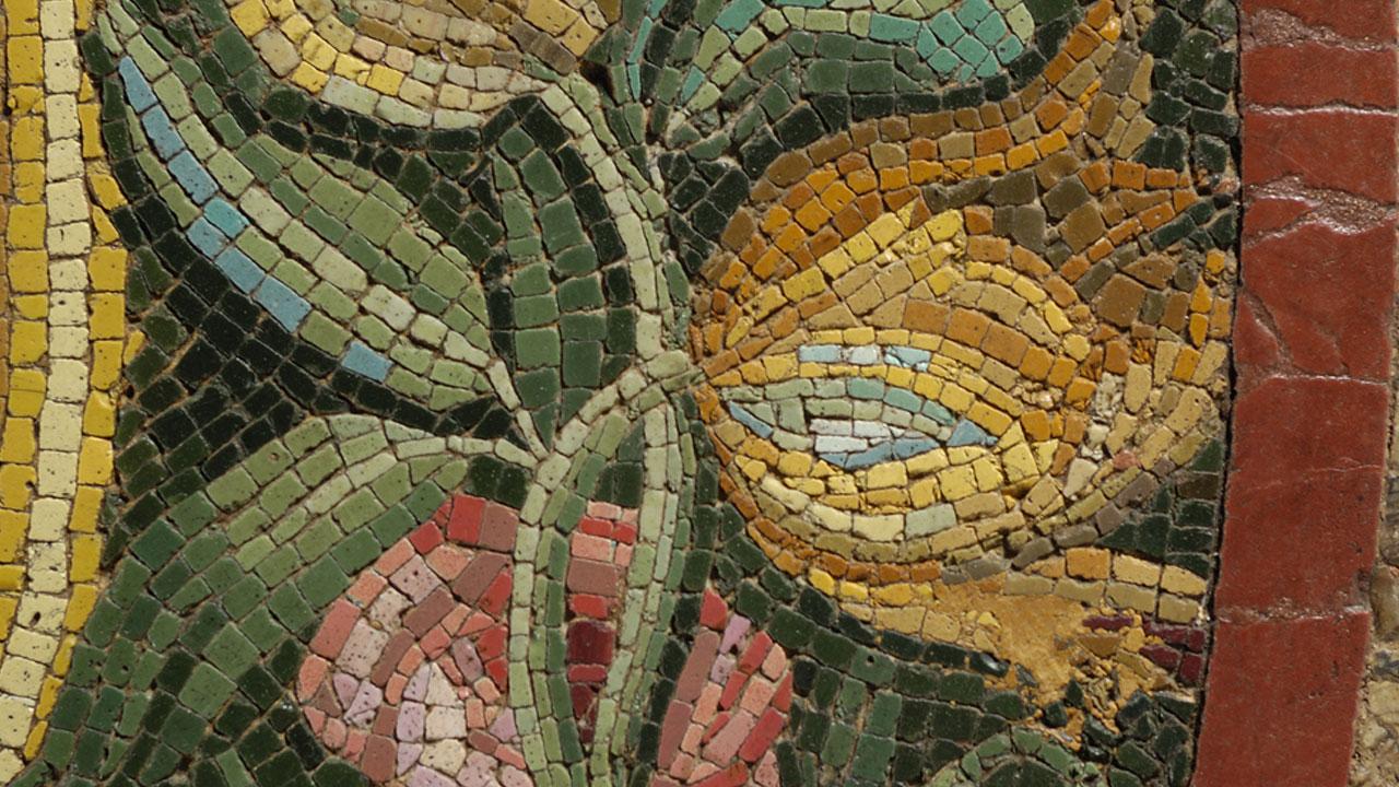 Foto de mosaico com flores