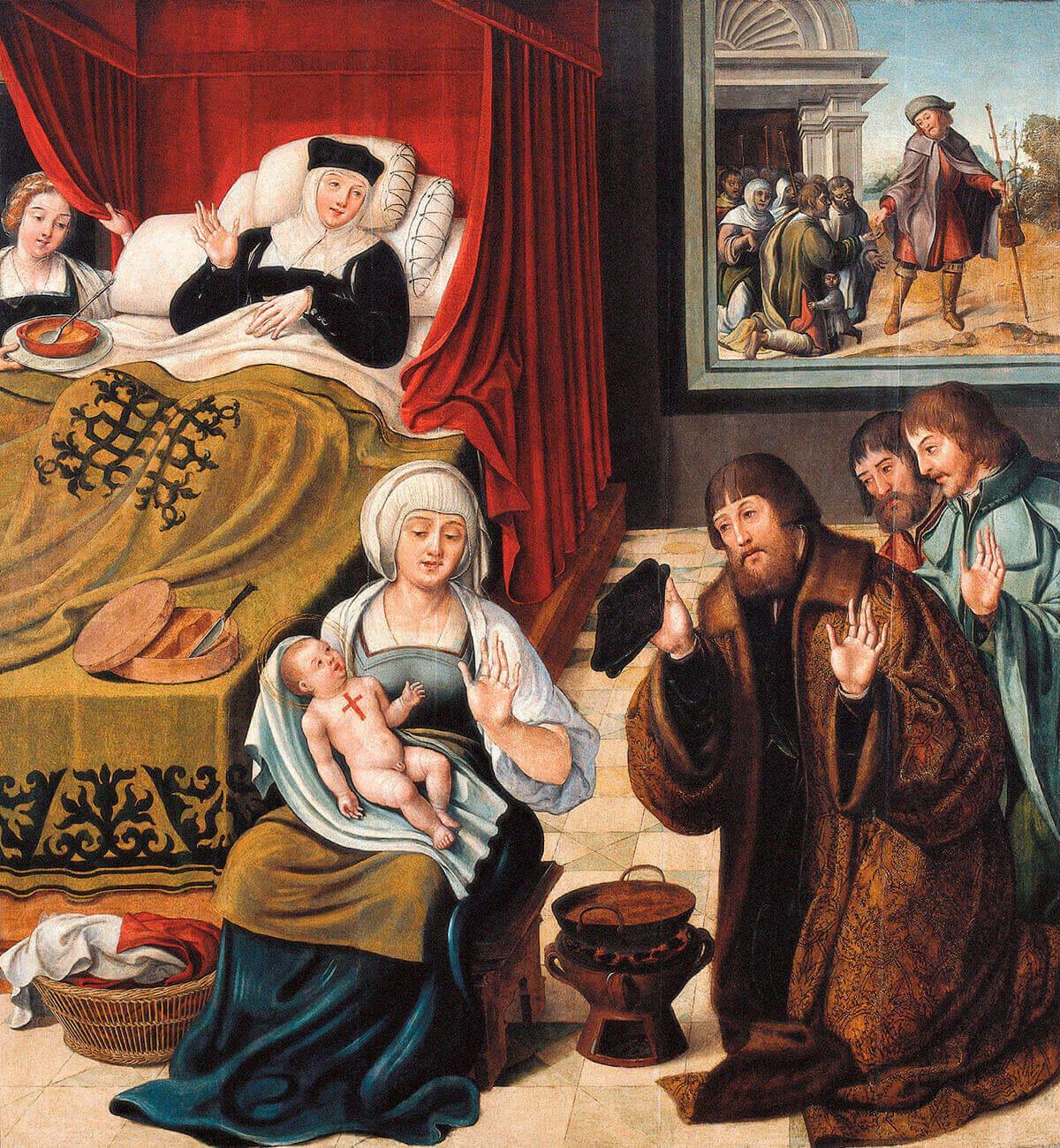 Pintura Natividade e adolescência de São Roque