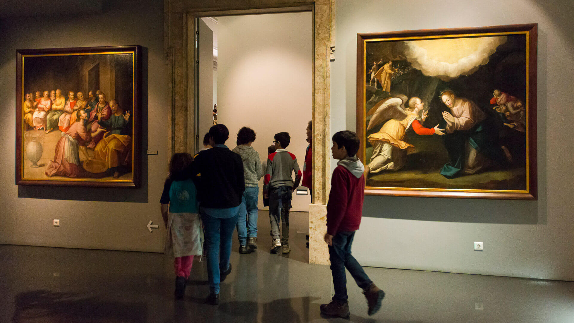 Crianças em visita ao Museu de São Roque